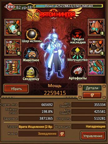 Оценка аккаунта Ninja World