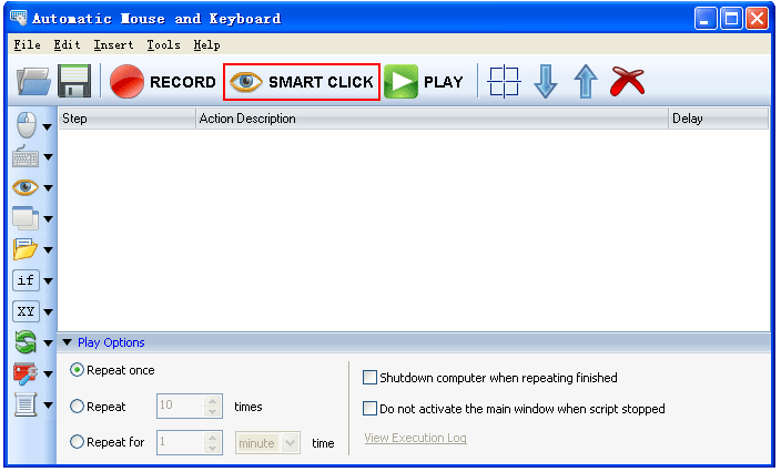 Автоматический кликер и клавиатура с записью действий.